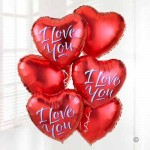 I Love you Balloons from Vandella's available to order for you stay at The Tranquil Otter in Cumbria