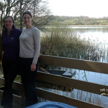 Three lucky winners of a stay in Alder Lodge at the Tranquil Otter
