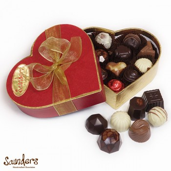Small Heart Shaped Box from Saunders Chocolatiers