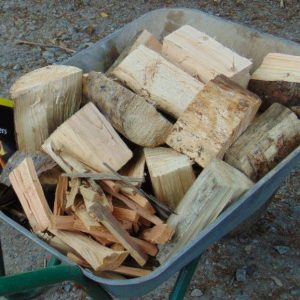 Additional Wheelbarrow of logs available at the Tranquil Otter