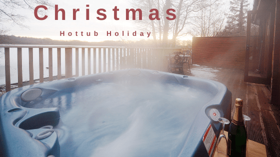 Christmas Hot tub Holiday The Tranquil Otter